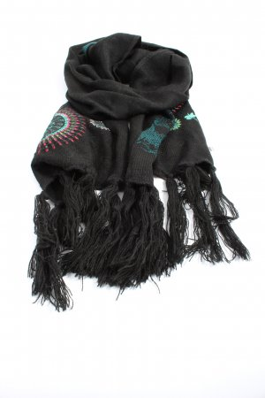 Desigual Fringed Scarf graphic pattern casual look