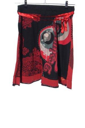 Desigual Glockenrock rot-schwarz Mustermix extravaganter Stil