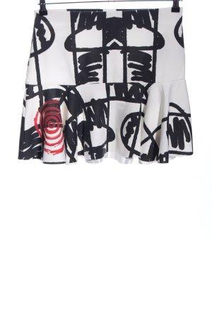 Desigual Glockenrock weiß-schwarz abstraktes Muster Casual-Look