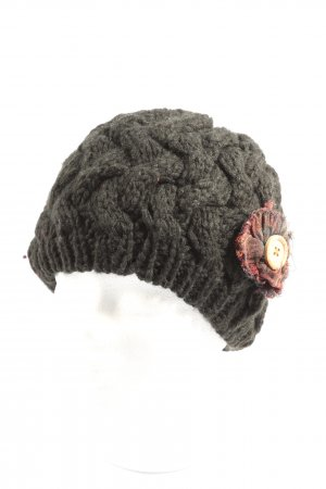 Desigual Crochet Cap light grey-red casual look