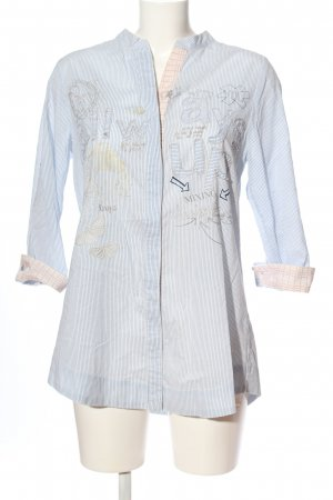 Desigual Hemd-Bluse blau Allover-Druck Business-Look