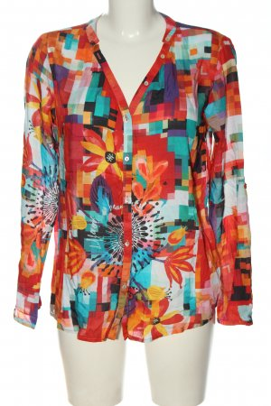 Desigual Hemd-Bluse Blumenmuster Casual-Look