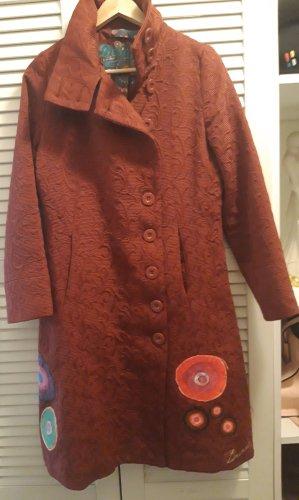 Desigual Robe manteau rouge foncé