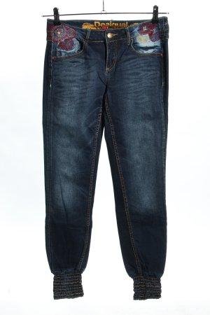 Desigual High Waist Jeans blau Casual-Look