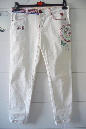 Desigual Pantalone a 7/8 bianco