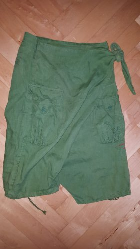 Desigual Pantalon 3/4 vert forêt ramie