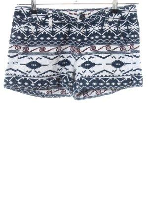 Desigual Hot Pants blau-weiß abstraktes Muster Casual-Look