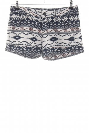 Desigual Hot Pants weiß-schwarz abstraktes Muster Casual-Look