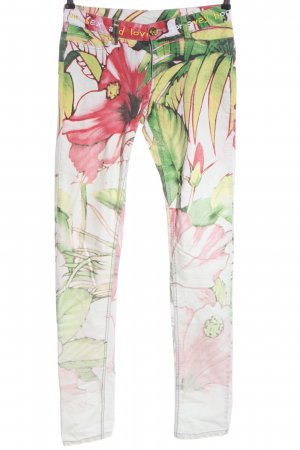 Desigual Low-Rise Trousers allover print casual look
