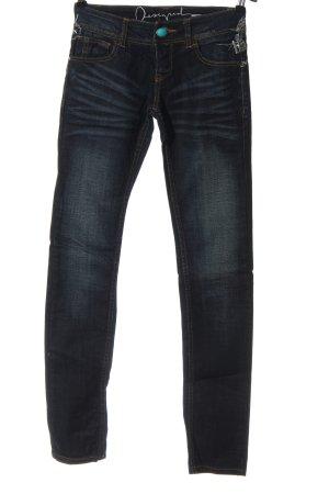 Desigual Jeans taille basse bleu style mode des rues