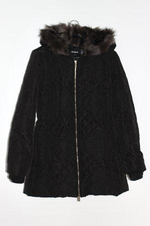 Desigual Jacke Mantel schwarz Größe 42 mit Stickerei Jadi Wanita
