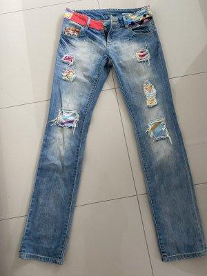 Desigual Jeans a sigaretta multicolore