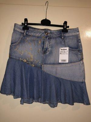 Desigual Jupe en jeans bleuet coton