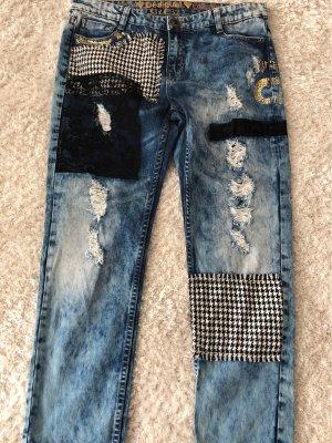 Desigual Jeans Weite 32 Flicken 7/8