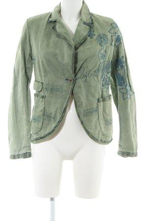 Desigual Jeansblazer khaki-blau Casual-Look