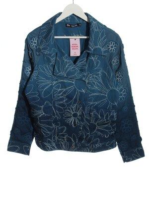 Desigual Spijkerblazer blauw bloemenprint casual uitstraling