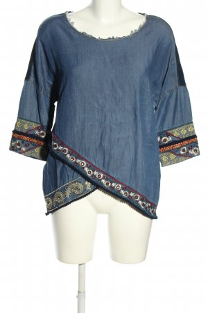 Desigual Jeansbluse grafisches Muster Casual-Look