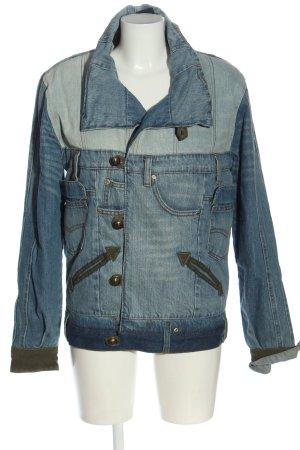 Desigual Jeansjacke blau-schwarz Casual-Look