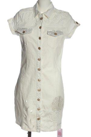 Desigual Jeansowa sukienka w kolorze białej wełny W stylu casual