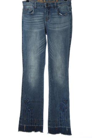 Desigual Jeansschlaghose blau Casual-Look