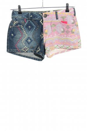 Desigual Jeansshorts Mustermix Casual-Look