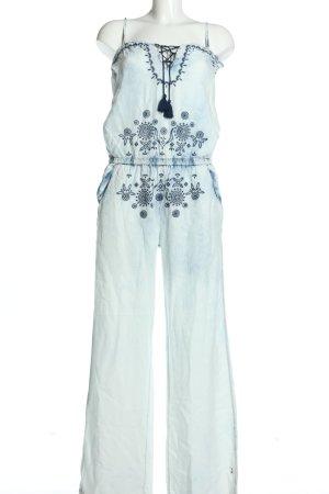 Desigual Jumpsuit weiß-blau Casual-Look