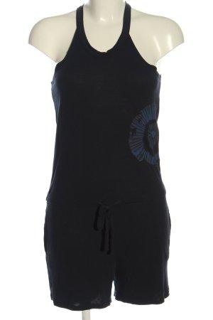 Desigual Jumpsuit schwarz-blau abstraktes Muster Casual-Look