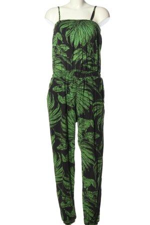 Desigual Jumpsuit schwarz-grün Allover-Druck Casual-Look