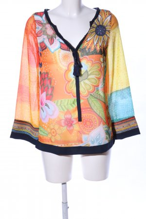 Desigual Kimono-Bluse Blumenmuster Casual-Look