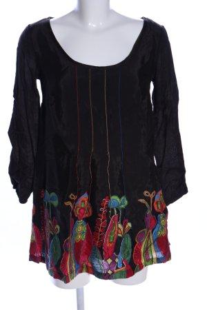 Desigual Kimono-Bluse schwarz Casual-Look