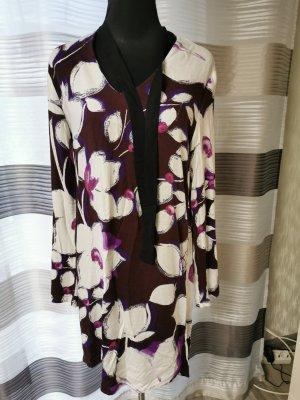 Desigual Robe à manches longues blanc cassé-bleu violet