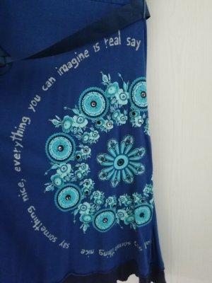 Desigual Robe d'été bleu coton