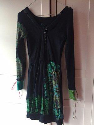 Desigual Sweat Dress black-forest green