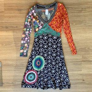 Desigual Vestido línea A multicolor
