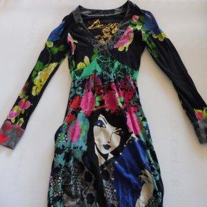 DESIGUAL Kleid, Bunt, Allover-Druck Größe S
