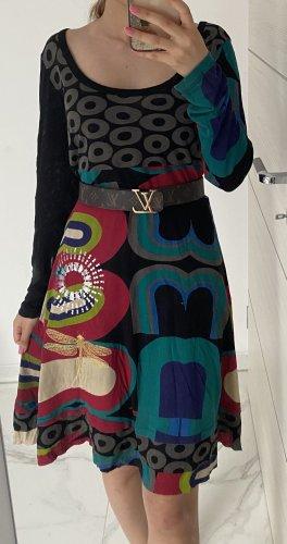 Desigual Sukienka z długim rękawem czarny