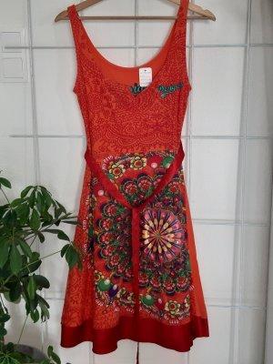 Desigual Sukienka dresowa ciemny pomarańcz