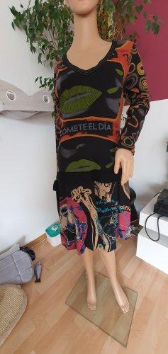 Desigual Vestido de tela de sudadera negro