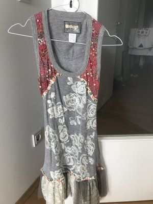 Desigual Vestido strapless gris