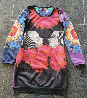 Desigual Vestido tipo jersey multicolor Algodón