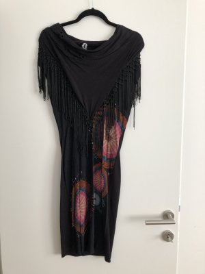 Desigual Fringed Dress black