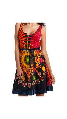 Desigual Kleid, Sommer, Gr. M, 38, Pailletten, blau, orange, Neu