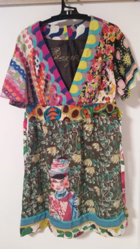 DESIGUAL Kleid, Sommerkleid, Bunt, Allover-Druck
