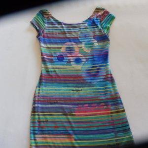 DESIGUAL Kleid, Streifen, bunt Gr. 38