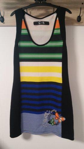 DESIGUAL Kleid, Streifen, Glitzerfaden, bunt