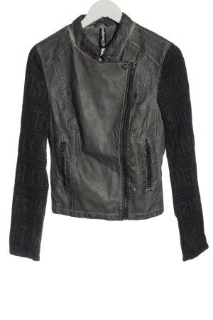 Desigual Veste en cuir synthétique noir-gris clair style décontracté