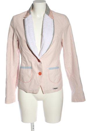 Desigual Kurz-Blazer pink-wollweiß Schriftzug gedruckt Casual-Look