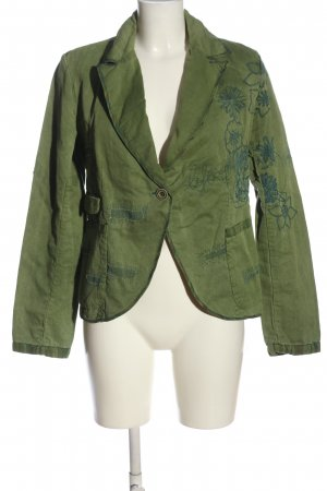 Desigual Kurz-Blazer grün Blumenmuster Casual-Look