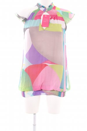 Desigual Kurzarm-Bluse abstraktes Muster Business-Look