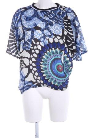 Desigual Kurzarm-Bluse abstraktes Muster Casual-Look